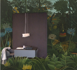 Een bureau in de jungle